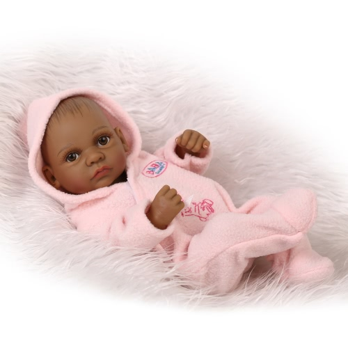 Reborn Baby Doll Baby Bath Toy Full Silicone Body Eyes Open With Clothes 10inch 25cm Lifelike Cute Gifts Toy Baby Boy
