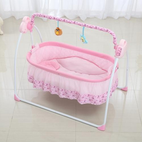 Electric Baby Bassinet Cradle Swing Rocking Music Remoter Control Sleeping Basket Bed Crib