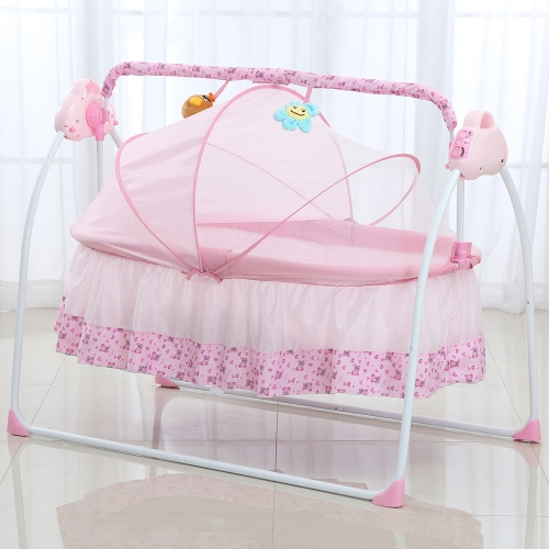 Electric Baby Bassinet Cradle Swing Rocking Connect Mobile Play Music Sleeping Basket Bed Crib For Newborn Infant