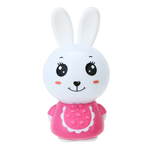 Bunny Kids Music Player Historia Teller Learning Machine Night Light Toy for Baby