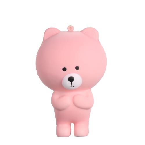 Мультфильм Медведь Squishy Jumbo Мягкая медленно растущая Stretchy Squeeze Смешные игрушки для детей