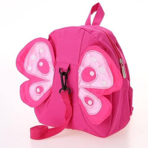 Kids School Bags Backpack Anti-lost Harness Canvas Cute Children Kindergarten Schoolbags Cartoon Bee Butterfly With Wings Yellow