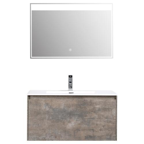 Meuble de salle de bain JAVA  simple vasque avec miroir LED