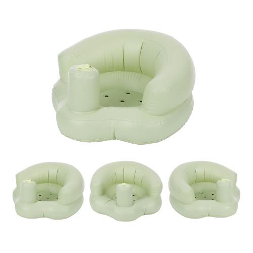 Надувной детский стул Портативный детский диван безопасности Учебное сиденье Кресло для игры на пляже Купание пляжа Бирюзовый ПВХ Розовый