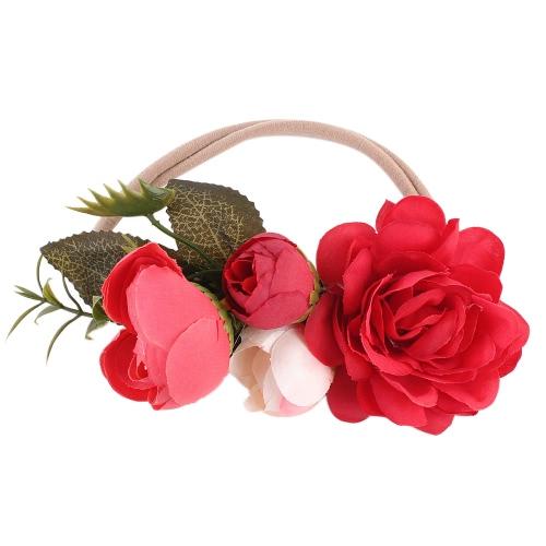 Малыш Младенца Малыш Красочные цветы Листья повязка Дети Дети Мода Принцесса Hairband Jewelry