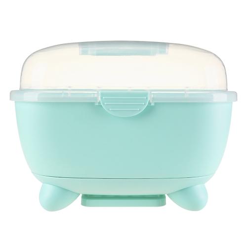 Multifunktionale Baby Milchflasche Aufbewahrungsbox Trocknen Tragbare Plastikbehälter Tasse Schüssel Schnuller Beißring Clamshell Organizer Rosa