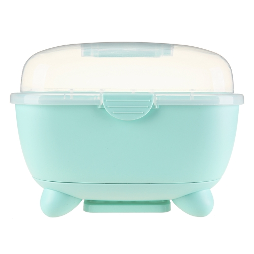 Multifuncional Leche para Bebés Caja de Almacenamiento de Secado Portátil Contenedor de Plástico Copa Bowl Chupete Mordedor Clamshell Organizador Rosa