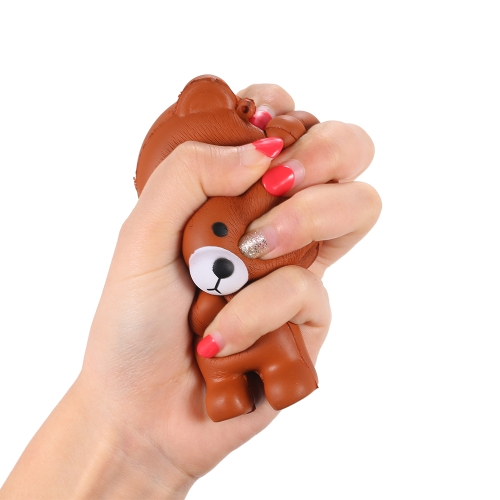 Мультфильм Медведь Squishy Jumbo Мягкая медленно растущая Stretchy Squeeze Смешные игрушки для детей фото