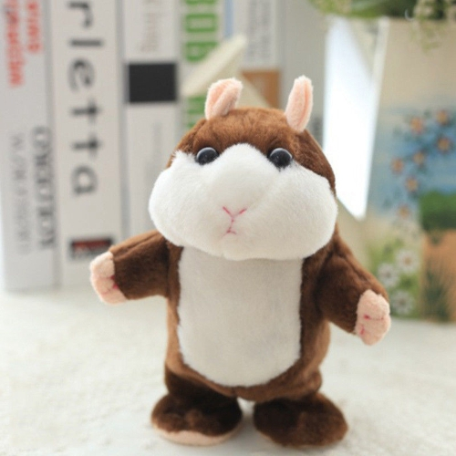 Electric Smart Little Walking Talking Hamster Record Powtórz nadziewane pluszowe zabawki edukacyjne dla dzieci prezent dla dzieci