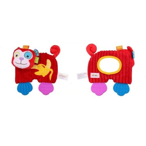 Baby Утешитель Плюшевые игрушки прорезывания мультфильм Животные с волшебным зеркалом Baby Успокаивающие игрушки Желтый лев фото