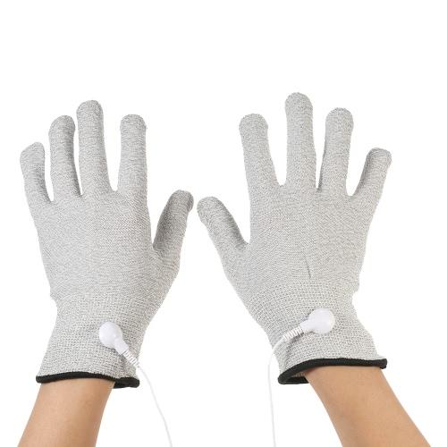 Decdeal 2PCS Проводящий массаж Электротерапия Электродные перчатки S / M / L