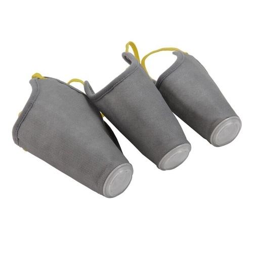 Atmungsaktive Hundemundmaske aus weichem Baumwoll-Tier Atemschutz PM2.5 Staubschutzmaske (grau, S)