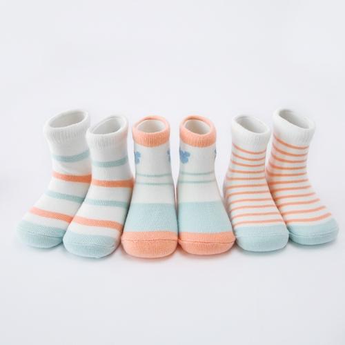 5 Pack Baby Sports Socks Unisex Cotton Anklet Socks For Infant Toddler Kids Boy Girl For 1-3 Year Blue S
