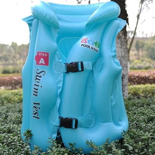 Baby Kids Float Надувной плавательный жилет Твердый цвет жизни Куртка Плавание Помощь Обучение плавания