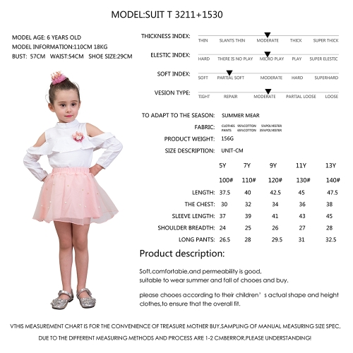 2Pcs Girls Dress Summer Off-Shoulder Tee Shirts Gauze Pricess Skirts Kids Clothing Set For 3T Pink
