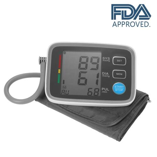 Monitor de presión arterial de brazo superior AlphaMed LCD