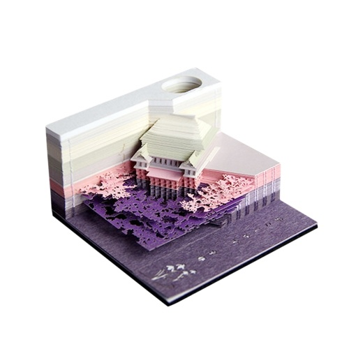 3D Exquisite Art Sticky Stereoscopic Post Note Paper