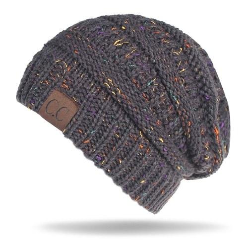 Sombrero Beanie de punto elástico para mujer
