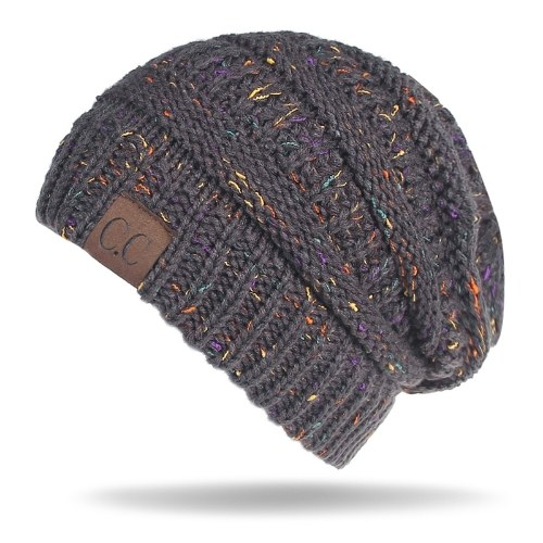 Mulheres Stretch Malha Beanie Hat
