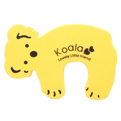 Cartoon Animal Foam Door Stopper Protective Cushion Holder Lock Safety Guard for Children Kids Baby Yellow Koala