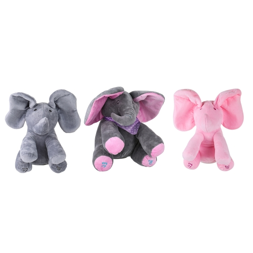 Electric Adorable Small Elephant Animated Flappy Push Doll