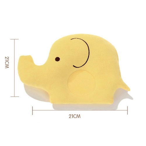 Decdeal Newborn Baby Soft Cotton Pillows Elephant Shape Head Sleep Pillows