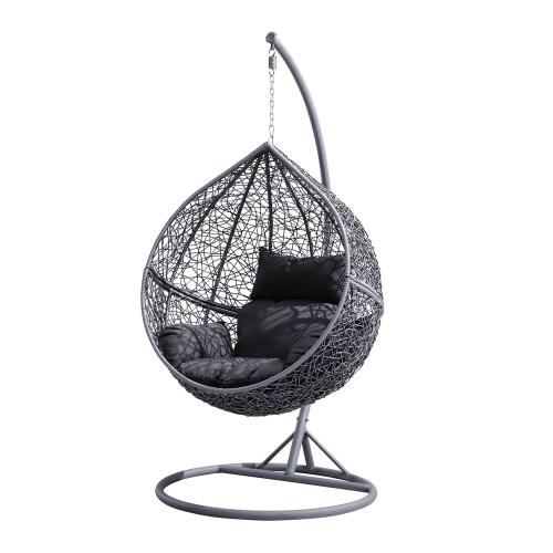 d s fauteuil suspendu de jardin forme oeuf r sine. Black Bedroom Furniture Sets. Home Design Ideas
