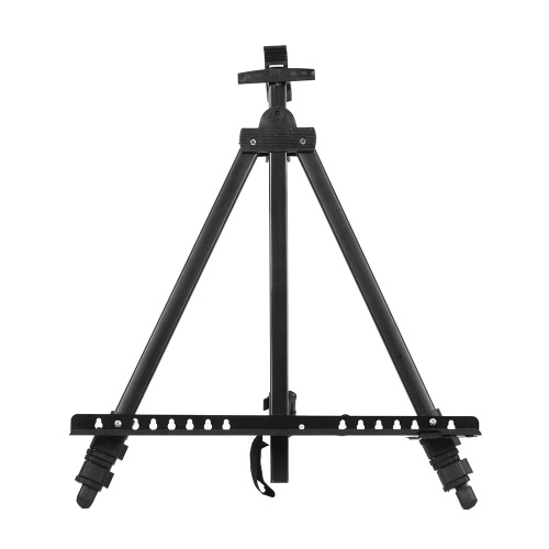 Folding Adjustable Metal Art Artist Easel Tripod Sketch Drawing Stand for Painting Display Exhibition with Carrying Bag