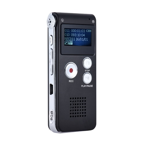 8GB Intelligent Digital Audio Voice Phone Recorder Dictaphone MP3 Music Player