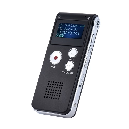 8 GB Intelligent Digital Audio Voice Phone Recorder Diktiergerät MP3-Musikplayer Voice Activate VAR AB Repeating