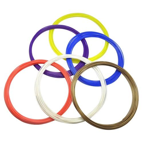 3D Pen PCL Filament Drukowanie 3D w niskiej temperaturze Uzupełnienie 1.75mm Recykling przyjazne dla środowiska dla Dewang DW-X4-2.0 Drukowanie 3D Pen, każde 5m / 16.4ft każdy, 10pcs (10 losowych kolorów)