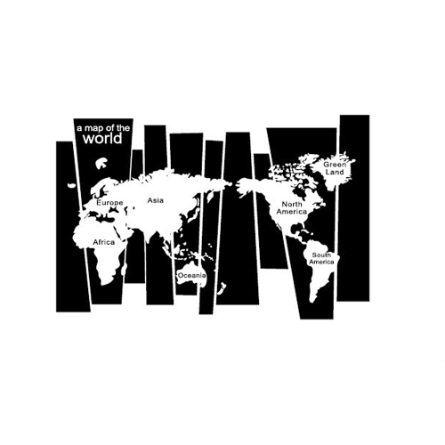 Black white world map wall sticker irregular map decal pvc mural black white world map wall sticker irregular map decal pvc mural art decor for bedroom gumiabroncs Gallery