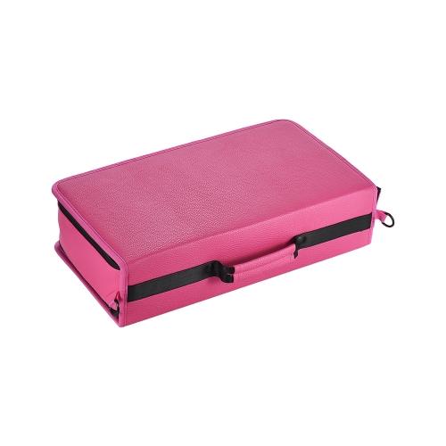 Borsa per pennarelli portatile con 120 slot Borsa per pennarelli pieghevole Organizzatore di supporto con tracolla per gli studenti