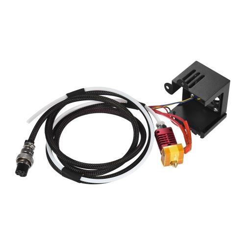 1pc Kits de extrusão com 0,4mm Bocal de saída Ventiladores duplos Conexão do ventilador Conexões de ar para impressora CR-10 3D