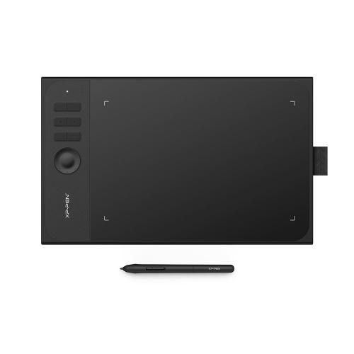 XP-PEN Star 06C 10 * 6inch Tablet de Desenho Gráfico 8192 Nível de pressão Pena passiva sem bateria 6 atalho com titular de caneta / luva
