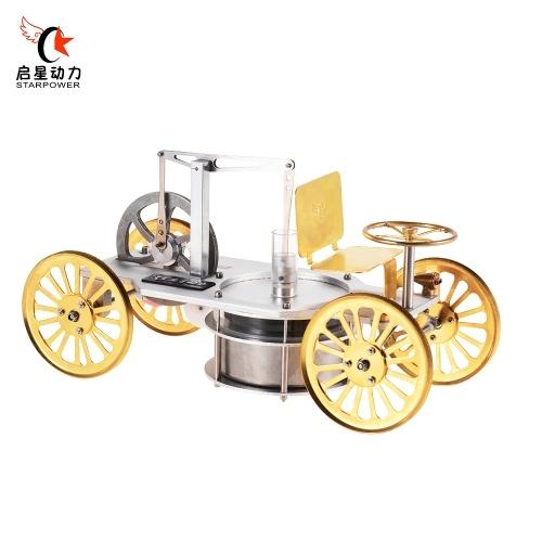 STARPOWER Low Temperature Metal Stirling Engine Motor Model Vehicle Car Kit OS2450