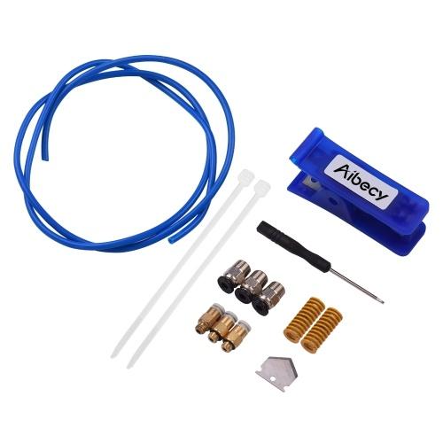 Резак для труб Aibecy и трубка из ПТФЭ с внутренним диаметром 2 мм, трубкой диаметром 4 мм и пневматическими фитингами Пружины для аксессуаров для 3D-принтера