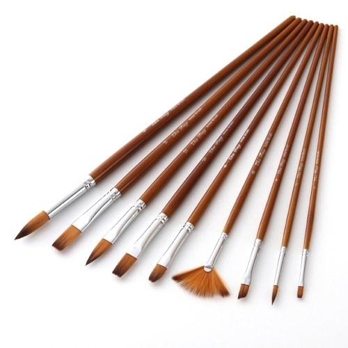Set di pennelli professionali da 9 pezzi
