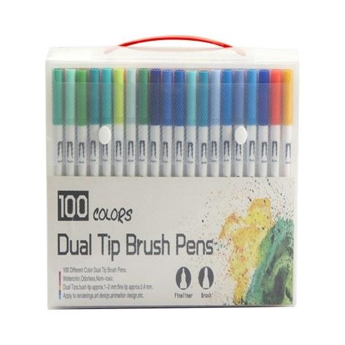 Colors Dual Tip Brush Pens Art Markers Set Flexible Brush & 0.4mm Fineliner Tips Watercolor Color Pens Perfect for Children Adults Artists Journaling Drawing Sketching Coloring Calligraphy Hand Lettering