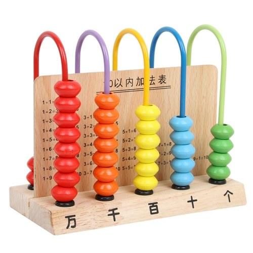 Деревянная Abacsu 5 Рамка Образовательная Игрушка Couting 50 Бусин