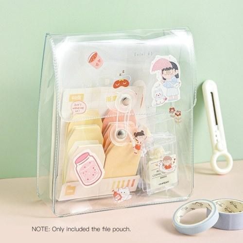 Portable Transparent File Document Bag Pouch Plastic Envelope Bill Invoice Storage