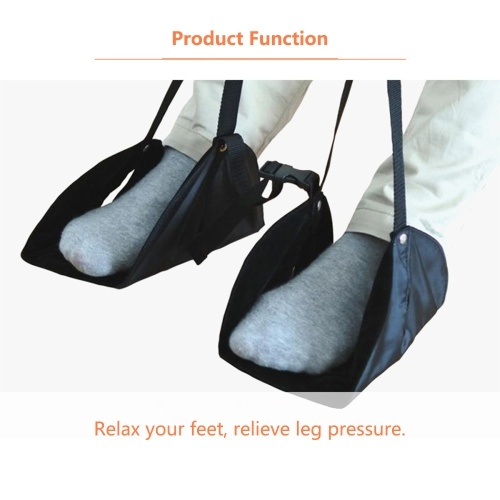 Black Airplane Footrest Portable Foot