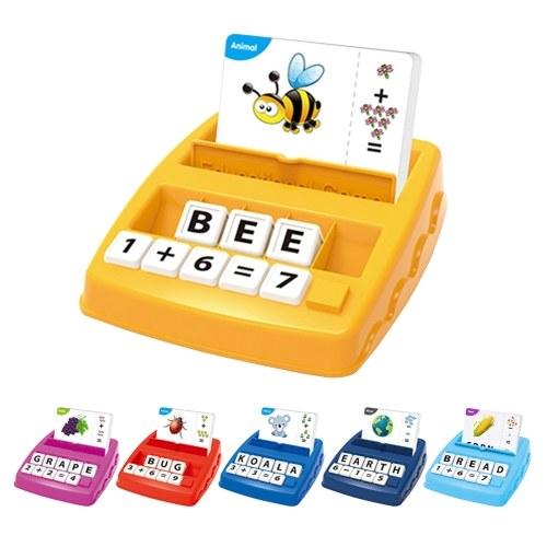 2 in 1 Matching Letter Game Number Matematica Conteggio Alfabeto Parola Ortografia Riconoscimento di oggetti