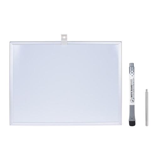 Dry Erase Magnetic Desenho Escrever Conselho Whiteboard com suporte Marcador Pen Quadro Stander de alumínio para officework Estudante Crianças 21 * 28 cm / 8 * 11in