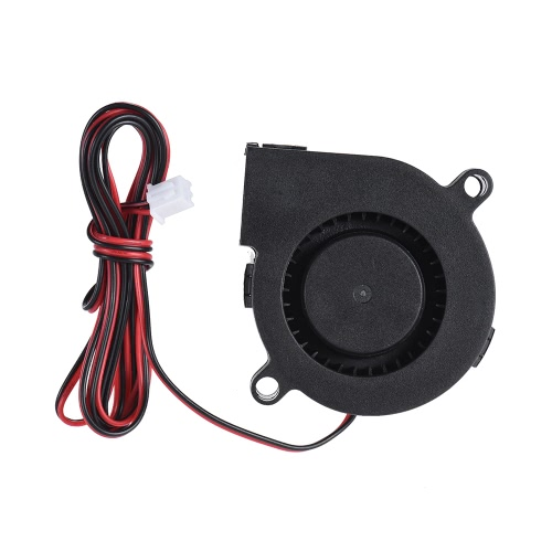 12V DC 50 milímetros golpe Radial Fan Cooling Hot End Extrusora para Printer RepRap i3 3D