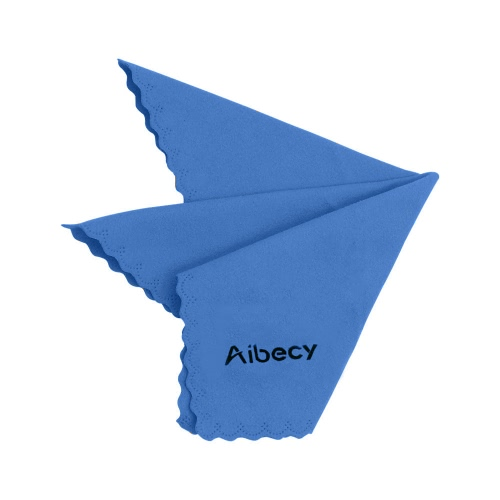 Aibecy Multipurpose Microfiber Cleaning Cloth Adopt for Microsuede for Glass Stationery Office Supplies Camera Lenses Phone Tablets Flat Screen TV Pack of 1 Blue