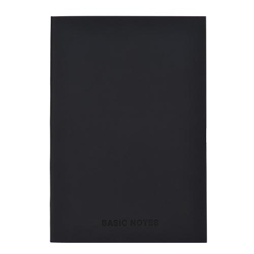Soft Leather Cover A5 Notebook Diary Daily Memos Planner Scratch Book Creative School Material de escritório Black 128 Folhas Line Page
