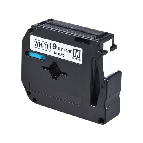 Czarny na taśma z białą etykietą Kompatybilny z drukarką etykiet Brother PT-65 / PT-70 / PT80 9mm * 8m