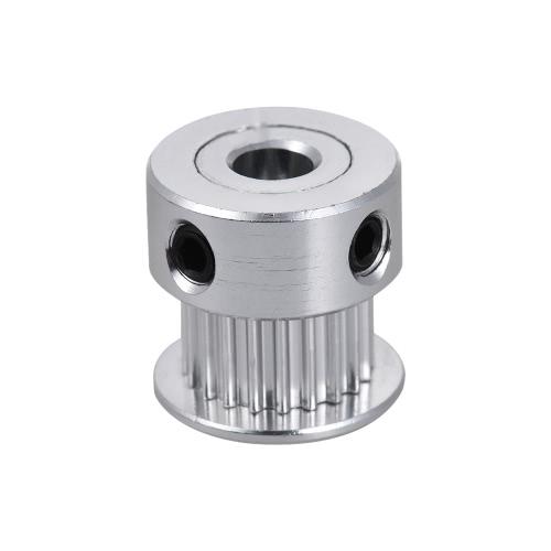 1pcs 2GT 20 Poleira de dente Caixa de sincronização de alumínio Travão de roda síncrona 5mm RepRap Prusa i3 Impressora 3D Kit de DIY Peças de acessórios