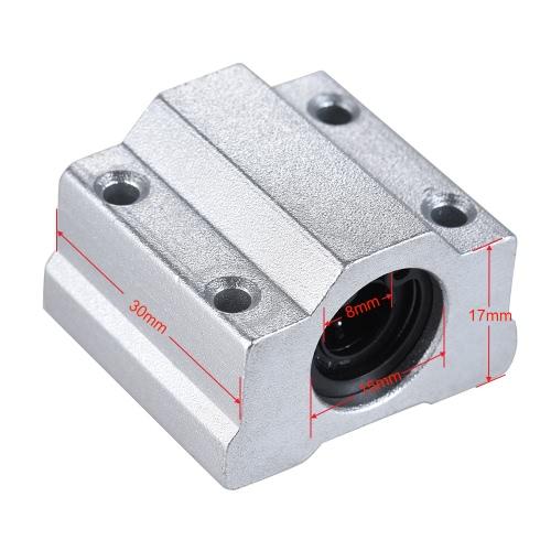 SCS8UU 8mm Rolamento de rolamento de esferas de movimento linear Unidade de roteador do roteador CNC Reprap Impressora 3D Kit DIY Peças Acessórios